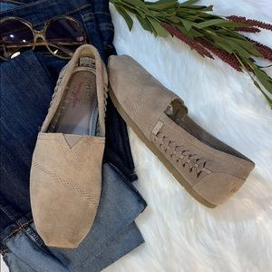 Bobs Suede Memory Foam Leather Moccasin/slip-on